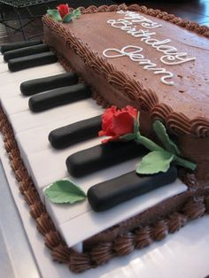 Baking Journey: Making a Piano Keyboard Cake, Crescent Cakes ~ by Kath: Grand Piano Cake for Grandad, best ideas about Piano cakes on P. Music Themed Cakes, Music Cakes, Themed Birthday Cakes, Birthday Cake Girls, Fondant Cakes, Cupcake Cakes, Piano Cakes, Occasion Cakes, Girl Cakes