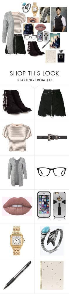 """""""Research w/ spencer reid"""" by zoerichardson-1 ❤ liked on Polyvore featuring Toga, County Of Milan, Topshop, Yves Saint Laurent, Sans Souci, Ray-Ban, Cartier and Sugar Paper"""