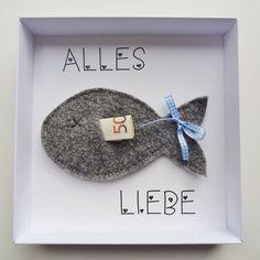 Geldgeschenk-Verpackung Fisch blau online kaufen ➜ Bestellen Sie Geldgeschenk-Verpackung Fisch blau für nur 11,95€ im design3000.de Online Shop - versandkostenfreie Lieferung ab 50€!