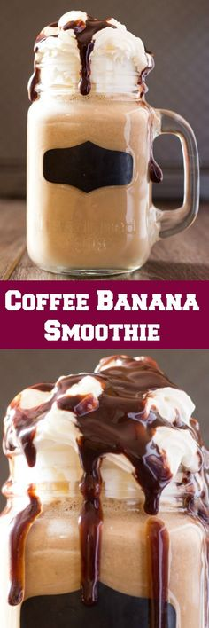 This Coffee Banana Smoothie is the perfect way to start your morning with coffee, banana and peanut butter! Packed with protein this is a refreshing drink.