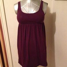 "Tank Top Dress Purple tank top t shirt dress. Bust 32"" seam under bust 29""-33"". Length from neckline to hem 27"". Mossimo Supply Co Dresses Mini"