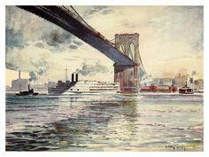 Martin Lewis  Brooklyn Bridge. 1911.