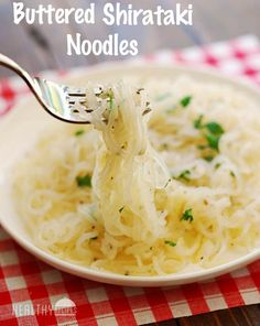 Shirataki Noodles with Butter and Parmesan | Healthy Recipes Blog