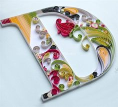 40 Examples of Creative Paper Typography Art By Anna Chiara Valentini crafts Paper Quilling For Beginners, Paper Quilling Tutorial, Paper Quilling Patterns, Quilled Paper Art, Quilling Paper Craft, Quilling Techniques, Paper Crafts, Quilling Videos, Quiling Paper