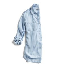Stitch Fix Spring Stylist Picks: Chambray button down shirt with tab sleeves