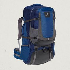 This is what I want for my first back pack. It comes with a detachable day pack that is awesome. Rincon 90L, shop.eaglecreek.com