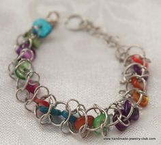 Choo Choo Train Bracelet Jewelry Making Chain Maille Tutorial jump rings: http://www.ecrafty.com/c-201-jump-rings-split-rings.aspx