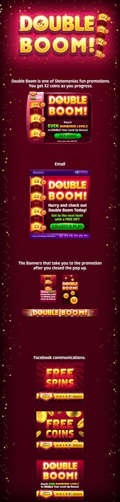 Double Boom promotion in Slotomania by Noa Brumberg Gambling Games, Casino Games, Game Ui, Promotion, Slot, Bible, Photoshop, Ideas, Biblia