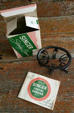 Vintage Singer Stocking Darner, Sock Darner, 1950s Sewing Tool, Stocking Darner #35776, Singer Manufacturing Company by EmptyNestVintage on Etsy