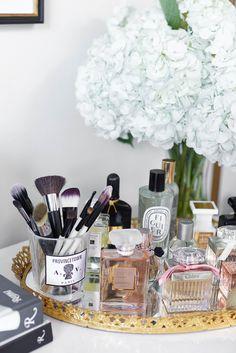 Elegant Mirrored Perfume Tray | Jenny Cipoletti Of Margo U0026 Me