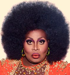 Latrice Royale, in all her 1970's Disco Diva Glory, RPDR4.