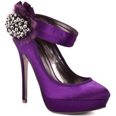 Image detail for -Buy these Glacee - Purple Satin High Heel Shoes here