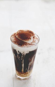 hazelnut ice latte