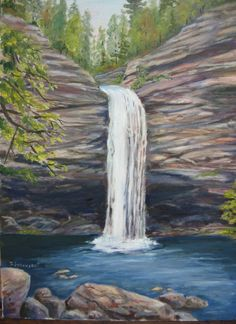 images of paintings of waterfalls - Google Search
