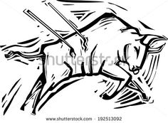 stock-vector-woodcut-style-image-of-a-charging-bull-in-a-bullfight-192513092.jpg (450×331)