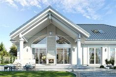 Bungalow House Design, Tiny House Design, Modern House Design, Beautiful House Plans, Modern House Plans, American Style House, Classic House Exterior, House Design Pictures, Front Porch Design