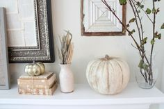 Turn fake or real pumpkins into vintage looking heirloom pumpkins with chalk paint