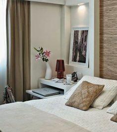 Decoração: quarto de casal com discreto home office. - Jeito de Casa - Blog de Decoração