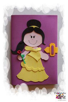 Capa para Caderno Decorada e Personalizada em EVA - Bela