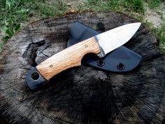 Bushcraft 1/4 thick File Neck knife by,JRs JRs Survival & Bushcraft Knives