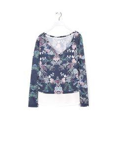 Lefties - camiseta manga larga flores bajo chifón - 0-405 - 01112315-V2015