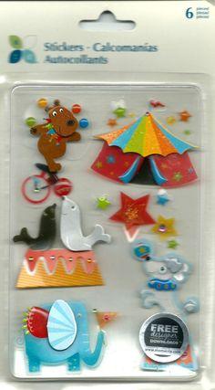 Momenta   Circus  6 pieces  dimensional by CynthiasCraftingNook