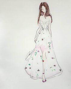 "32 Likes, 2 Comments - Mel (@mel_bourne1998) on Instagram: ""Floral dress💐 🌹🌸🌷⚘🌼🌺 #fashion #fashionillustration #fashionsketch #fashiondrawing #fashiondesign…"""