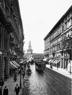 Milano Via Dante 1905/10 #TuscanyAgriturismoGiratola