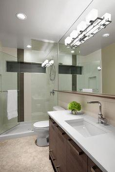 Contemporary bathroom lighting ideas incredible design ideas bathroom lighting and modern bathroom vanity lighting ideas designer . Contemporary Bathroom Lighting, Bathroom Lighting Design, Modern Bathroom Tile, Bathroom Ceiling Light, Bathroom Sconces, Big Bathrooms, Bathroom Light Fixtures, Bathroom Interior Design, Beautiful Bathrooms