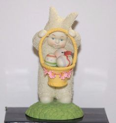 Dept. 56 Snowbunnies A Surprise In My Basket Easter Bunny Figurine #babescollectibles