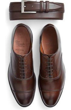 Allen Edmonds Park Avenue Oxford in Dark Brown Burnished Leather Suit Shoes, Men's Shoes, Shoe Boots, Oxford Shoes Outfit, Dark Brown Shoes, Brown Dress Shoes, Allen Edmonds Shoes, Gentleman Shoes, Business Mode