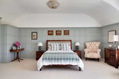 Becky and Jamie Gunning have updated their grand period house in the country to create a beautiful family home filled with contemporary colour and pattern Shabby Chic Bedrooms, Trendy Bedroom, Modern Bedroom, Bedroom Closet Design, Master Bedroom Design, Master Bedrooms, Bedroom Designs, Bedroom Apartment, Home Bedroom