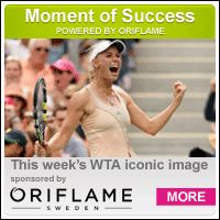 9/1/14 MOMENT OF SUCCESS POWERED BY ORIFLAME: Caroline Wozniacki defeated Maria Sharapova at the US Open on Sunday to reach her first Grand Slam quarterfinal since 2012.