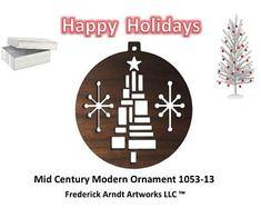 1053-13 Mid Century Modern Christmas Ornament