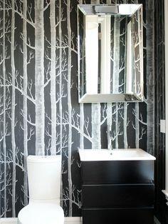 Black and White Bathroom Designs | Bathroom Ideas & Design with Vanities, Tile, Cabinets, Sinks | HGTV