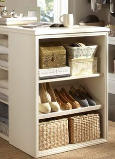 Closet island - great storage space for shoes and folded sweaters.