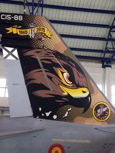 CONMEMORACION DEL ALA 46 DEL EJERCITO DEL AIRE ESPAÑOL, DERIVA DE UN F-18