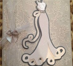 This card was made using the Wedding Cricut Cartridge and punched small flowers with pearls and clear rhinestones added. Description from pinterest.com. I searched for this on bing.com/images