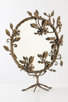 Beautiful and elegant magnifying mirror, perfect for a bathroom or makeup stand.