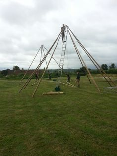 The Tipis from World inspired Tents being assembled. http://www.worldinspiredtents.co.uk
