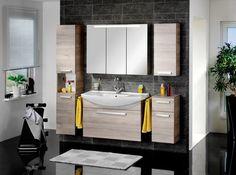 Hochschrank in Eichenfarbe online bestellen Vanity, Mirror, Bathroom, Furniture, Home Decor, Products, Round Bathroom Mirror, Sink, Engineered Wood
