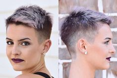 Lisa Cimorelli Short Hairstyles - 1 Source by donnacraigen Super Short Hair, Short Grey Hair, Short Hair Cuts, Short Hair Styles, Really Short Hair, Short Pixie Haircuts, Pixie Hairstyles, Cool Hairstyles, Fashion Hairstyles