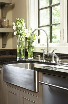 Stainless steel farmhouse sink. This is happening.