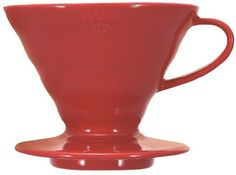 Hario V60 02 Coffee Plastic Dripper, Red - http://teacoffeestore.com/hario-v60-02-coffee-plastic-dripper-red/