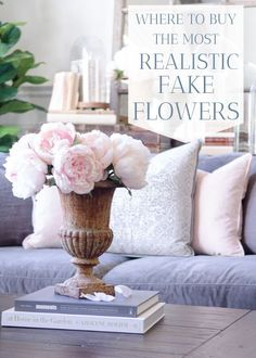 Sources for the most realistic fake flowers for seasonal decorating or events. Beautiful faux flowers and greenery for home decorating. Decor, Faux Flowers, Fake Flowers, French Country Decorating, Spring Decor, Faux Branches, Coffee Table Vintage, Modern Farmhouse Kitchens, Modern Decor