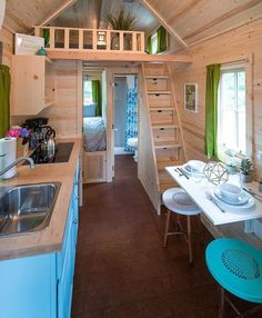 One of several tiny homes that you can stay in at The Mt Hood Tiny House Village in Welches, Oregon. ❤️ Built by: Tumbleweed Tiny House Company • #tinyhousemovement #tinyhouse #cabin #cottage #village #vacation #simpleliving