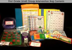 Check out this great 1st Grade Intervention tool kit!  It is brilliant!  I am going to make one for my son for Kindergarten and each year after....Common Core is making each grade more challenging:)  Thank you