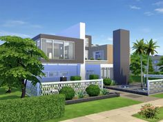 chemy's Kismet Modern Modern Family, Home And Family, Sims 4 Modern House, Sims 4 Houses, Teen Bedroom, Open Concept, Second Floor, Floor Plans, Mansions