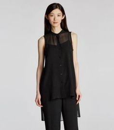 Bluesign® Certified Sheer Silk Tunic
