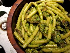 pasta-alcachofas-pesto-nueces